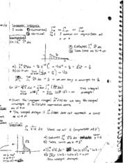 Class Notes on Improper Integrals and Arc Length