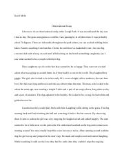 Obsevational essay .docx