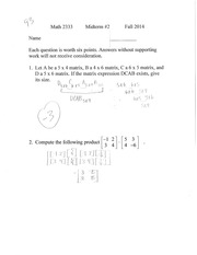 matrices review