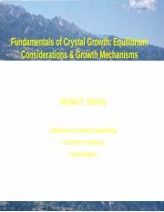 Crystal Growth-Intro and Solubility-ChE5
