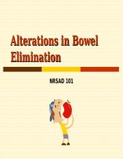 Alterations in BOWEL Elimination Bb fall 2012.ppt