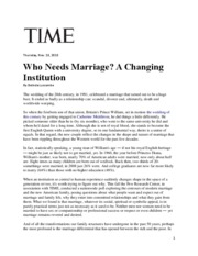 Week 5_Luscombe Article_Marriage Changing Institution