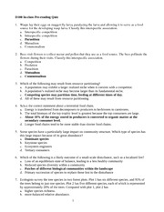 BISC 102 Fall 2013 Inclass PreReading Quiz Solutions