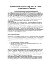 016.Administration and Training_Keys to CMMS Implementation Success (5p)