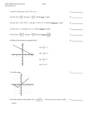 Math 110 Sample Final Exam