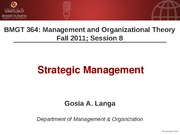 BMGT364 Session 8 - Strategic Management