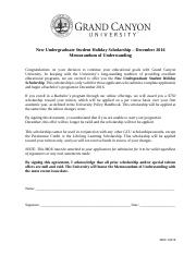 MOU 3478 - New Undergraduate Student Holiday Scholarship_December  2016
