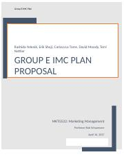Week 7 Group E IMC Plan Final.docx