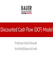 08 Discounted Cash Flow (DCF) Model