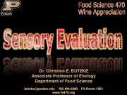 sensory evaluation lecture 2 wine
