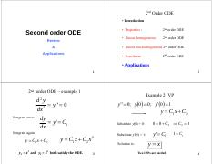 CHEG520 Part 2 Second order ODE