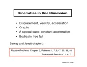 03-Kinematics in One Dimension