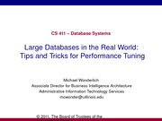 CS411 - Large Database and Query Tuning-April_1_2011