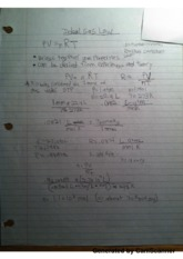 Ideal Gas Law Notes