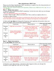 Wave Interference Worksheet Answers : Light And Quantized ...