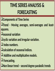 TIME SERIES ANALYSIS & FORECASTING.ppt