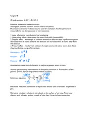 Exam II Quicksheet