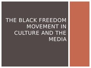the black freedom movement in culture and the media