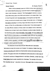Research Essay - The Crucible, Great Gatsby, and the Catcher in the Rye