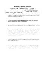Homework B on Applied Statistics