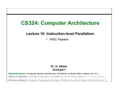 16. Instruction-level Parallelism RISC Pipeline.pdf