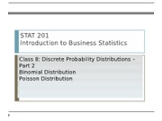 08 Discrete Probability Distributions Part 2