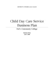 Child Day Care Service Business Plan