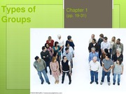 COMM 3571 - Ch. 1 (part 2) Types of Groups