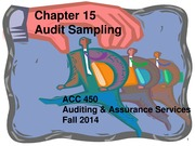 ACC 450 19 Audit Sampling Fall 14