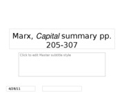 Marx Capital summary 205-307