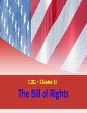 C181 - Ch. 15 Bill of Rights