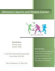 Women's Sports and Fitness Center.docx