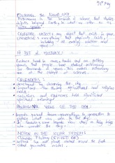 SNC1D Celestial Objects Notes