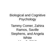 Biological and Cognitive Psychology