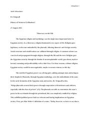 History of Western Civilization Essay 1 with Works Cited.docx