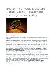 Justice, Honesty and the Rings of Invisibility