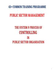 THE SYSTEM & PROCESS OF CONTROLLING IN PUBLIC