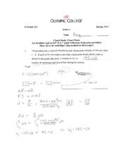 ENGR 215 Exam 1 Solutions
