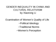 GenderInequalityinChina