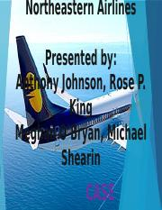 Chapter 8 Northeastern Airlines Final