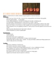 Jack o Lantern Project Description