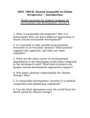 Lecture 8 climate change questions.doc