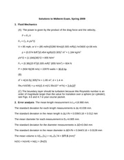 Solutions to Midterm Exam, Spring 2009