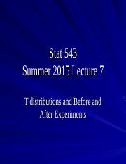 Stat 543summer2015lecture7