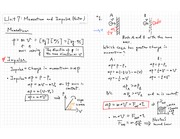 Momentum and Impulse Vector Notes