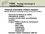 Foreign Exchange & Capital Markets