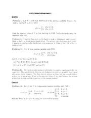 IE 575 Practice Problems Exam II Fall 2013