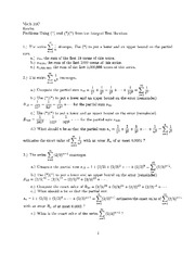 Integral Test Handout Notes