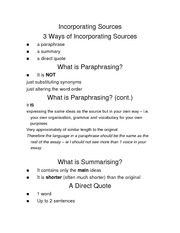 incorporating sources initial slides