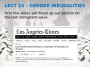 Lecture 24 - Gender Inequalities